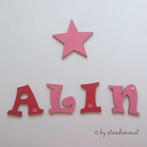 Dekoration Holzbuchstaben Baby Kinderzimmer Deko