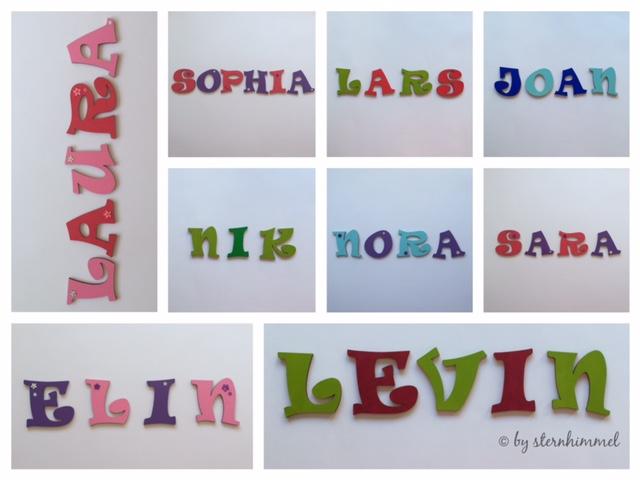 Deko Buchstaben Holzbuchstaben zur Dekoration vom Kinderzimmer